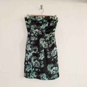 Banana Republic Strapless Floral Dress Sz 0